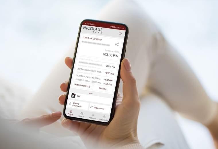 Aplikacja mobilna Nicolaus Bank
