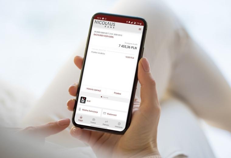 Konto Moc Korzyści - konto osobiste zaplikacją mobilną wNicolaus Banku